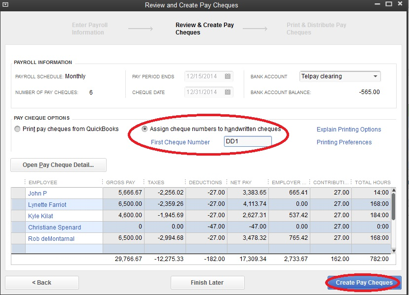 how to enter payroll into quickbooks manually